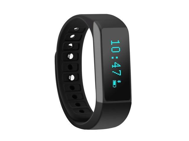 Nek Tech Fitness Tracker Upgraded I5 Plus Touch Screen Bluetooth Smart Bracelet Wristband Black