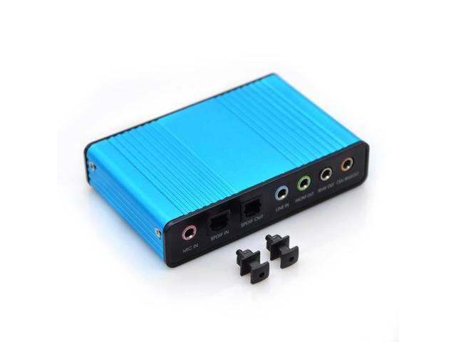 NEK Tech 6 Channel External Sound Card 5.1 Surround Sound USB 2.0 ...