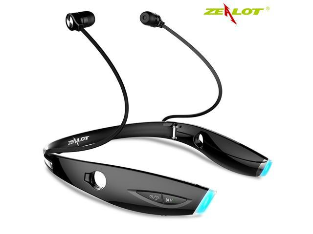 Zealot H1 Wireless Bluetooth Headphones Foldable Sports Earphones Neckband Headset In Ear Headphones Magnet Wearable Earbuds Earpieces For Sports Running Gym Exercise Newegg Com