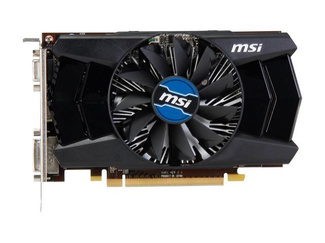 Used - Like New: MSI Radeon R7 250 2GB DirectX 12 R7 250 2GD3 OC 128-Bit  DDR3 PCI Express 3 0 HDCP Ready CrossFireX Support Video Graphics Card -