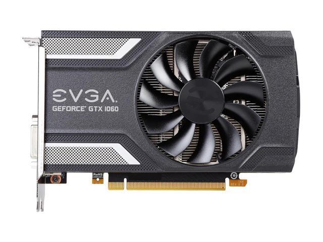 06G-P4-6163-KR ACX 2.0 DX12 OSD Support Single Fan PXOC 6GB GDDR5 EVGA GeForce GTX 1060 SC GAMING