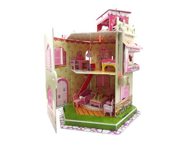 Sourcingbay 3D Puzzle Paper Romantic Dollhouse - Gifts for Girls 8 Years  Old and Under Educational Toys Craft for Kids (101 Pieces) - Newegg com
