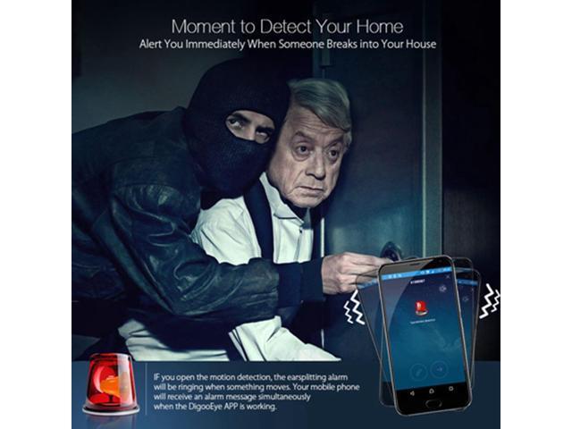 Digoo DG-M1Q 960P Wireless Mini WIFI Night Vision Smart Home Security IP  Camera - Newegg com