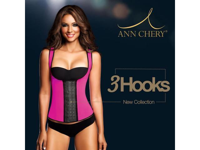 76417bcbf47 Ann Chery 3 Hook Long Deportiva Sport Latex Vest Body Shaper ...