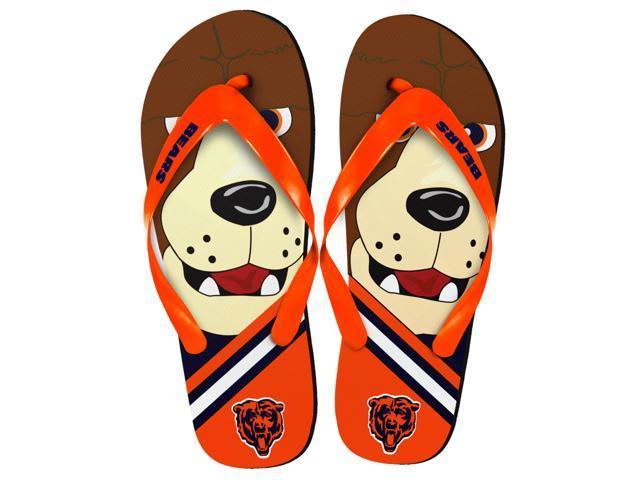 6d07dbaa Chicago Bears NFL 8-16 Youth Mascot Flip Flops X-Large (5-6) - Newegg.ca