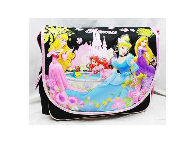 666082a89dd5 Messenger Bag - Disney - Princess - Black New School Book Bag a01465 ...