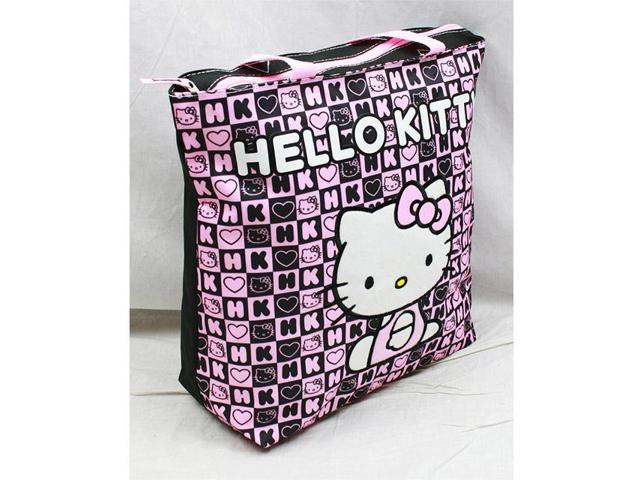 5f62c3d8b393 Tote Bag - Hello Kitty - Black Box Checker New Gifts Girls Hand Purse 82352