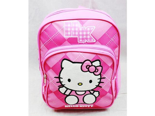 c9f11ea147f Mini Backpack - Hello Kitty - Pink Checker New School Bag Book Girls 82080