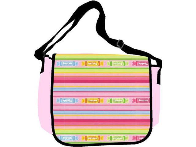 Tootsie Roll - Pink Striped School Bag