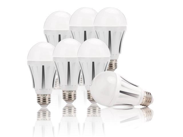 6 Pack 12w A19 Led Light Bulbs Daylight White 6000k 75watt