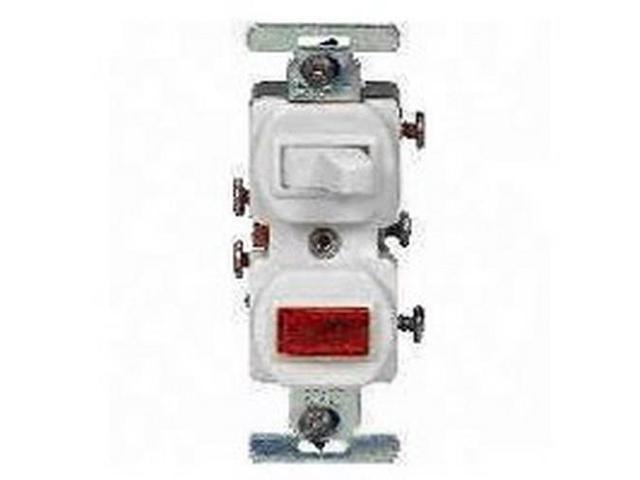Cooper 277w White Combination Single Pole Toggle Light