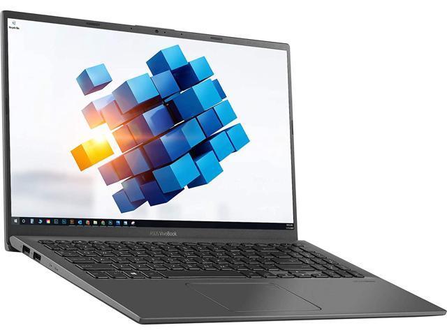 "2021 ASUS VivoBook R564JA 15.6"" FHD Touchscreen Laptop, 10th Gen Intel Core i3-1005G1 (beat i5-7200u), 8GB RAM, 128GB PCIe SSD, Fingerprint Reader, Card Reader, USB-C, Windows 10 Home, Slate Gray"