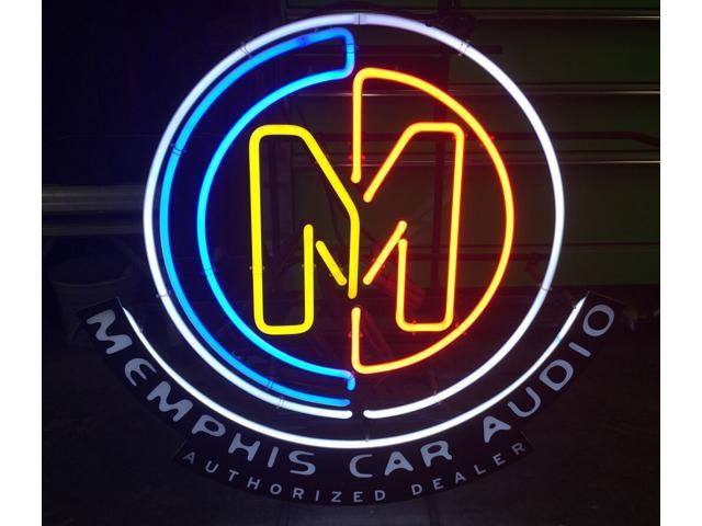 Fashion Neon Sign Memphis Car Audio Handcrafted Real Glass