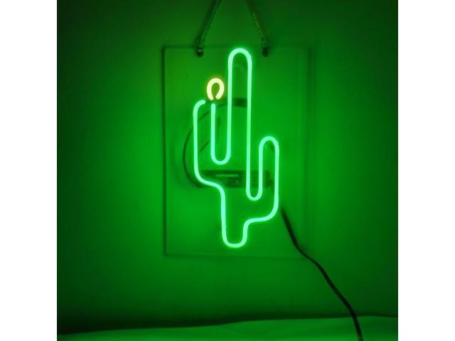 Fashion Handcraft Cactus Neon Real Gl S For Display Light Signs 14x9 Newegg