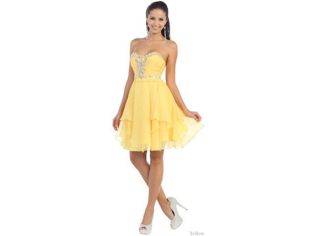 CUTE SHORT HOMECOMING QUEEN DRESS SEMI FORMAL PROM DANCE SWEET 16 COCKTAIL  PARTY BRIDESMAIDS GRADUATION ATTIRE 4d9e7b6ff