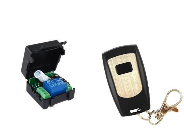 Ultra Thin Waterproof 1 Switch Wireless RF Remote Control + DC 12V 10A 1  Channel 315MHZ Wireless Relay Module - Newegg com