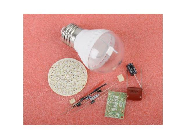Energy-saving 38 Leds Lamps Diy Kits Electronic Suite 2.4w 170-210lm Pbt Flame Retardant Shell Ac 85v-277v Punctual Timing Integrated Circuits