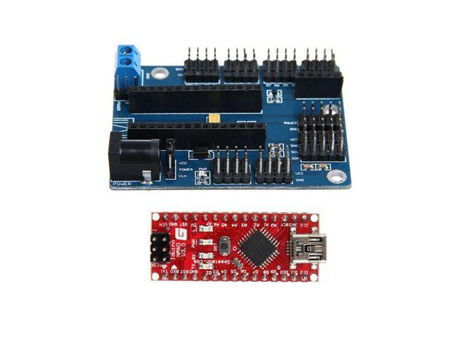 Arduino NANO IO Expansion Board shield with Iduino NANO ATmega328  Breadboard - Newegg com