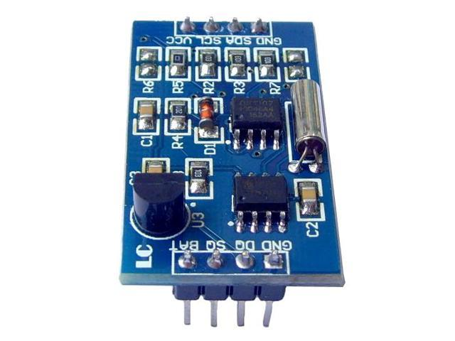 3-in-1 DS1307 RTC Real Time Clock + AT24C128 EEPROM Storage Chip + DS18B20  Temperature Sensor Module 5V - Newegg com