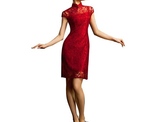 bfacab6d75 Chinese Cheongsam Qipao Gown - Vintage Cocktail Dress Asian Fashion Chic   107