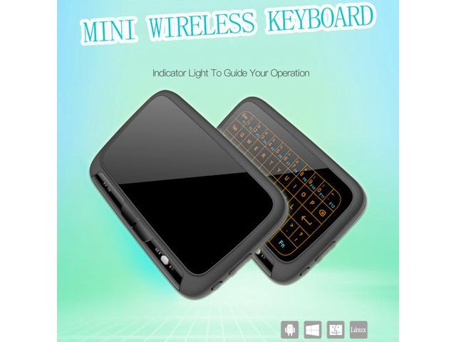 H18+ 2 4GHz Wireless Mini Keyboard Full Touchpad Backlight Keyboard Large  Touch Pad Remote Control for Smart TV Android TV Box - Newegg com