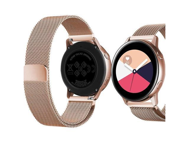 f969c2db6 Dsytom Milanese Bands Compatible with Galaxy Watch Active 40mm Band SM-R500, 20mm Mesh
