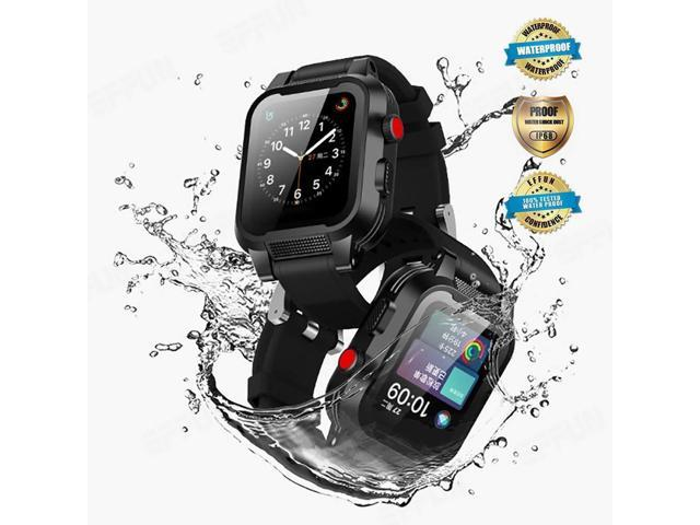 separation shoes c3d90 317ac Apple Watch Waterproof Case for 38mm Apple Watch Series 3 & 2, EFFUN IP68  Waterproof Shockproof Impact Resistant Apple Watch Case Rugged Protective  ...