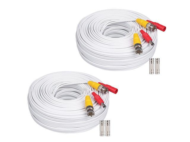 200ft Power Video Security Camera Cable BNC Extension Wire Cord for All CCTV DVR