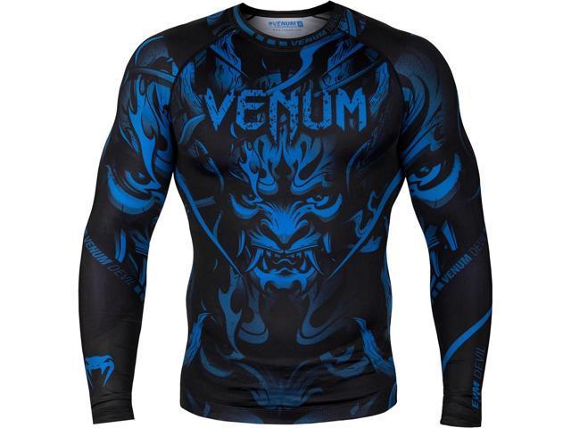 Venum Devil Long Sleeve Compression Rashguard Navy Blue//Black