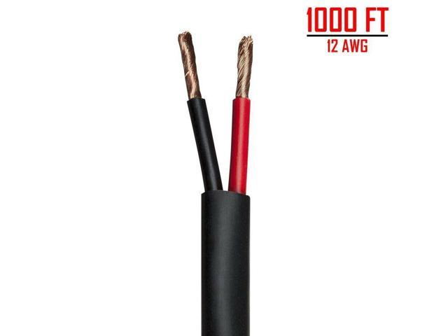 1000FT 12 Gauge Speaker Wire Cable Audio 2 Conductor Pure Copper Plenum  In-Wall - Newegg com
