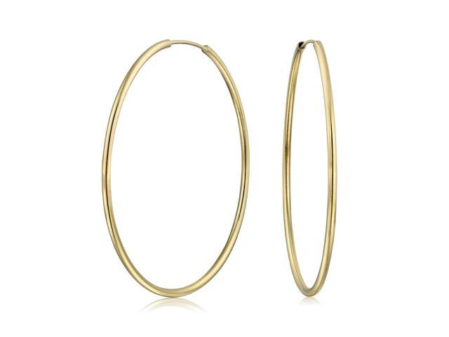 628847477e4ae Bling Jewelry Gold Filled Tube Endless Hoop Earrings 2 inches - Newegg.com