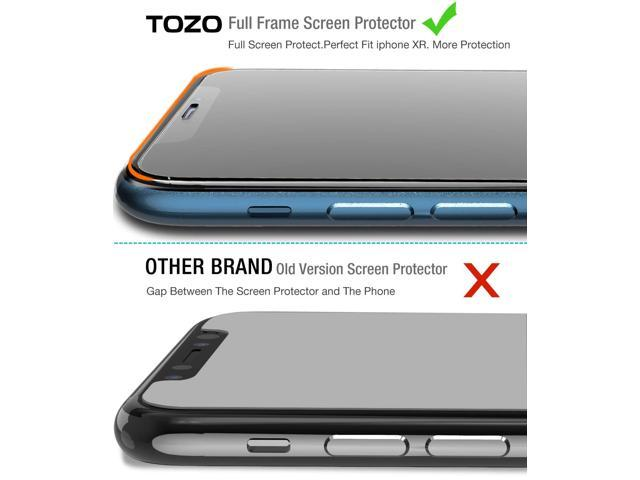 huge selection of 716c9 add11 TOZO iPhone XR Screen Protector [3-Pack] Premium Tempered Glass [0.26mm] 9H  Hardness 2.5D Film Super Easy Apply for iPhone XR 6.1 Inch (2018 - ...
