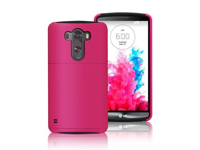 sale retailer 4dda0 e8788 Labato Rose Dual Layer Back Cover Case with Consealed Credit Card Holder  for LG G3 D855, Lbt-LG3-01P33 - Newegg.com