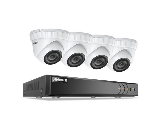 ANNKE 8CH 3MP Security Camera System, 8CH HD-TVI 5-in-1 DVR and (4)  3-Megapixel Indoor/Outdoor CCTV Dome Metal Cameras, Motion Detection, Super  Night