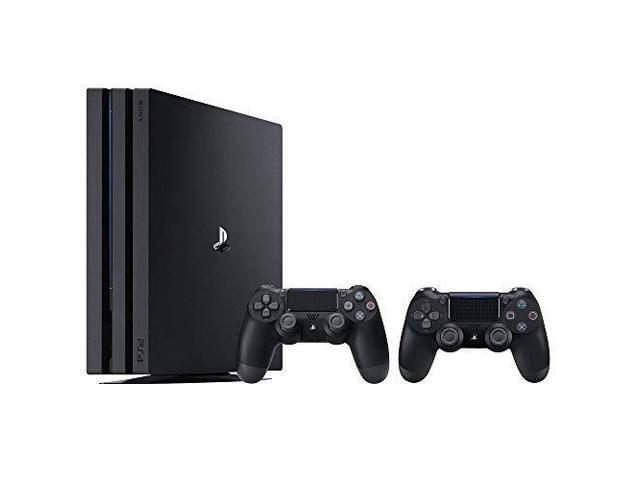 Refurbished: PlayStation 4 Pro Console Bundle 2 Items: PS4 Pro 1TB Console  And An Extra PS4 Dualshock 4 Wireless Controller Jet Black - Newegg com