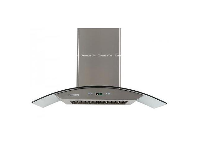 "XtremeAir PX01-W30 30"" Canopy Pro Style Wall Mount Ducted Range Hood With 900 CFM  4 Speed Heat Touch Sensitive Electronic Control  LED Lighting System With LCD Display  In Stainless Steel"