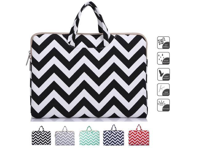 95d3749d3079 Mosiso - Chevron Black Canvas Fabric 15-15.6 Inch Laptop   Notebook  Computer   MacBook