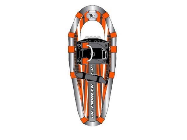 Yukon Charlie's Jr  Pioneer Aluminum Snowshoe - Kids up to 100lbs - Orange  - Newegg com