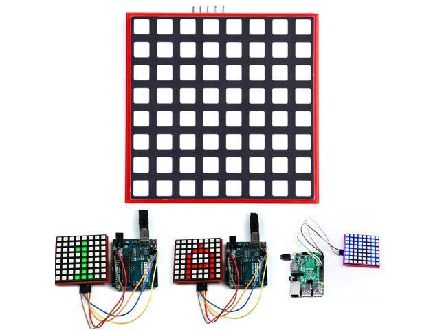 8x8 RGB Full-Color LED Matrix Super Bright Screen Display Module for Arduino