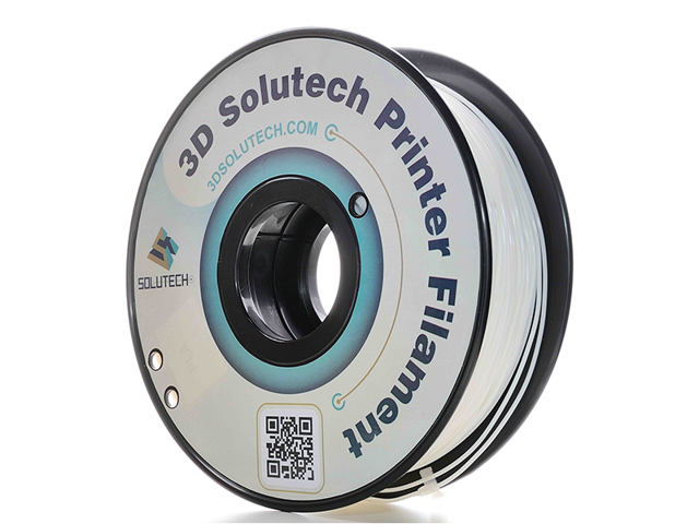 3D Solutech - 1.75mm Real White PLA 2.2 LBS (1KG) Filament for Makerbot