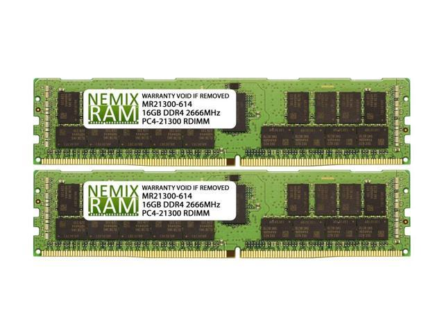 NEMIX RAM 32GB DDR4-2666 2Rx4 RDIMM for Intel S2600KPFR