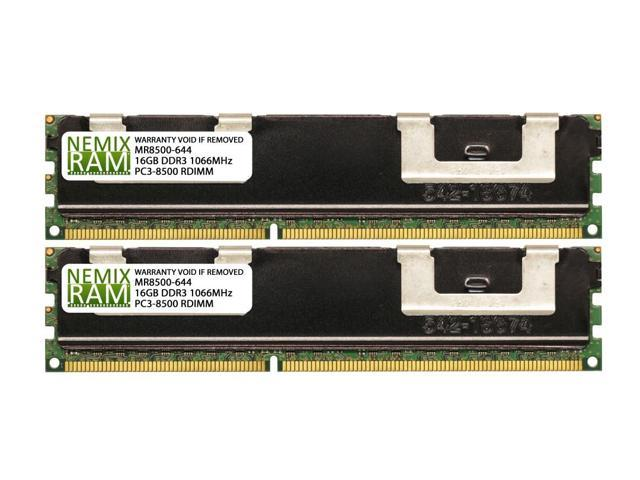 Used 128GB 8x16GB DDR3-1066 PC3-8500 Server Memory Kit