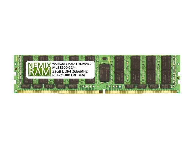 NEMIX RAM 32GB DDR4-2666 2Rx4 LRDIMM for Intel HNS2600KPR