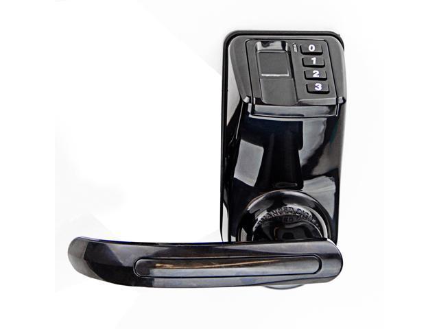 ADEL LS9 Biometric Waterproof Fingerprint Password Door Lock W/ Leftu0026Right  Handle Keyless