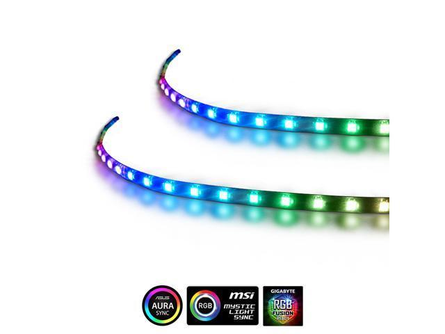 Extended Computer Magnetic 5V 3 Pin LED Strip - 2PCS RGB LED