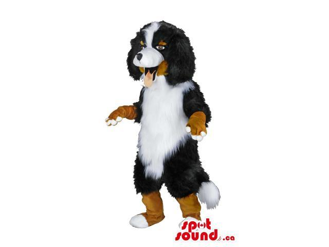 Bernese Mountain Dog Canadian Spotsound Mascot With Woolly Brown And