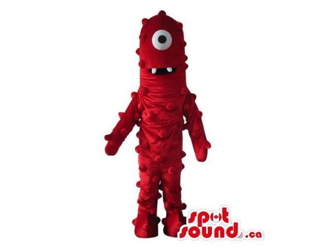 yo gabba gabba characters red one eyed alien plush canadian