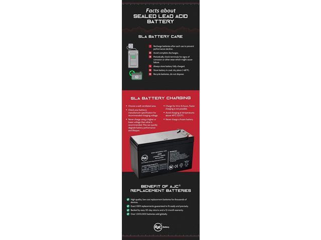 Energizer Office Pro 1000VA ER-PRO1000 12V 9Ah UPS Battery This is an AJC Brand Replacement