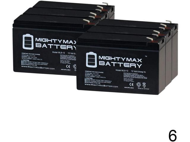 Mighty Max Battery ML12-12 10 Pack Brand Product 12V 12AH F2 Conext 900AVR SLA Battery