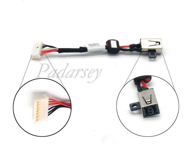 Padarsey Replacement DC Power Jack Socket in Cable with Wire Harness Compatible for Dell XPS 15 9550 P56F Precision 5510 Series 064TM0 64TM0 AAM00 DC30100X300
